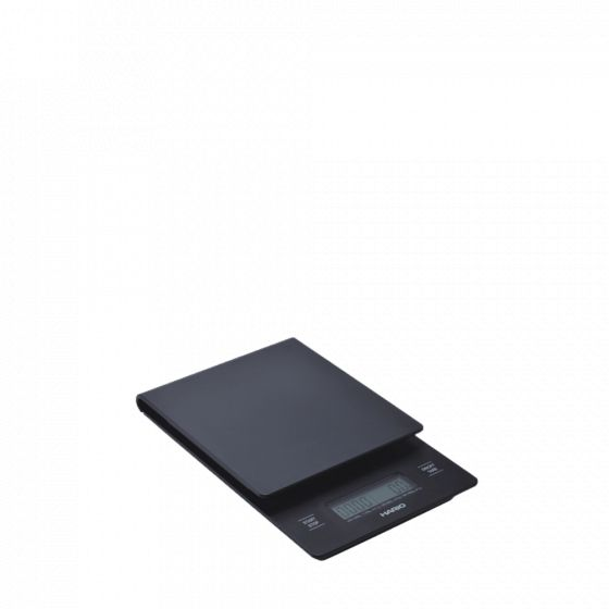 scale with integrated timer Hario V60 drip black