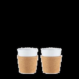 Set mit 2 Tassen: Bodum® Bistro – Kork