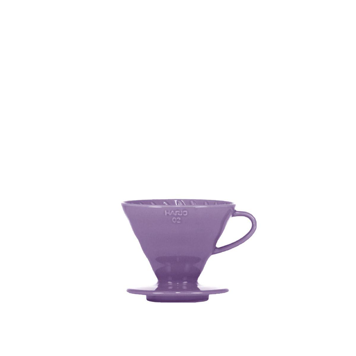 V60 Porcelain Dripper Hario [3/4 cups] - Violet