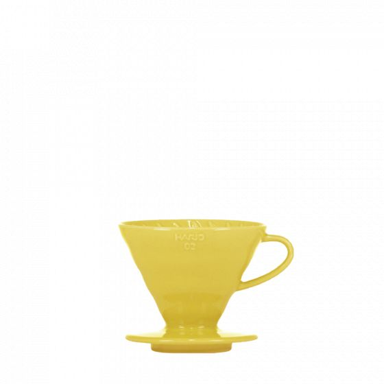 V60 dripper Hario porcelain [3/4 cups] - Yellow