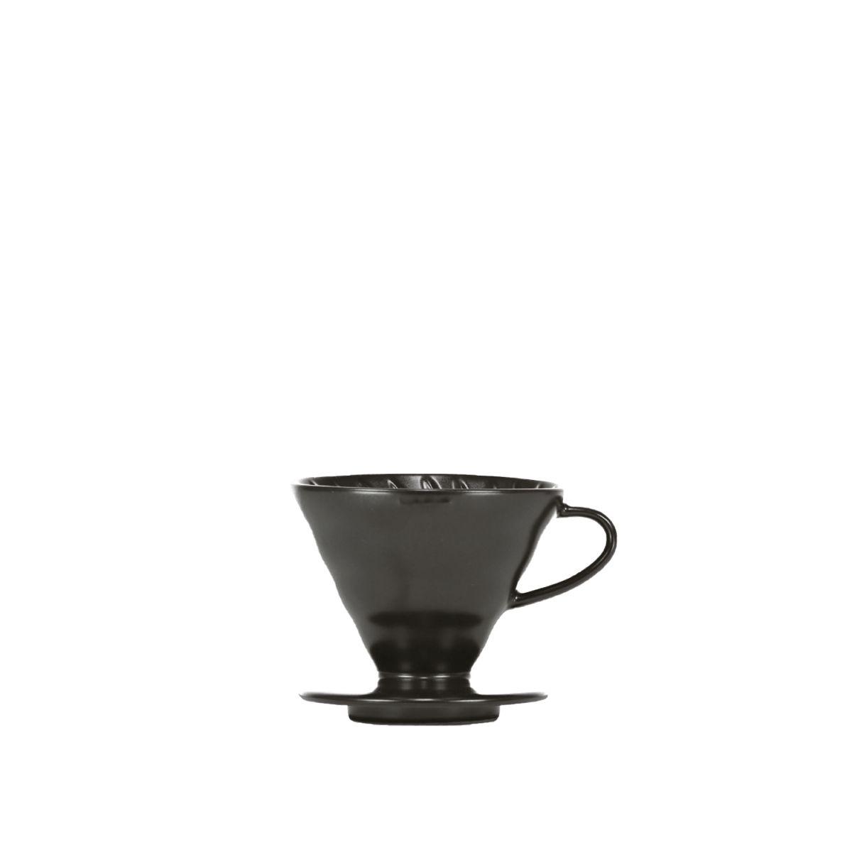 V60 dripper Hario porcelaine [3/4 tasses] - Noir mat